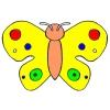 Disegno di Farfalla a Pois a colori
