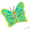 Disegno di La Bella Farfalla  a colori