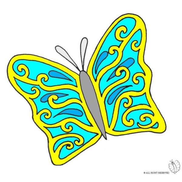 Disegno Di La Bella Farfalla A Colori Per Bambini