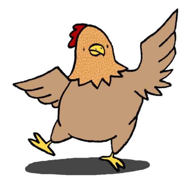 Disegno di gallina ballerina a colori per bambini for Disegno della fattoria americana