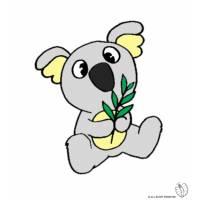 Disegno di Koala a colori
