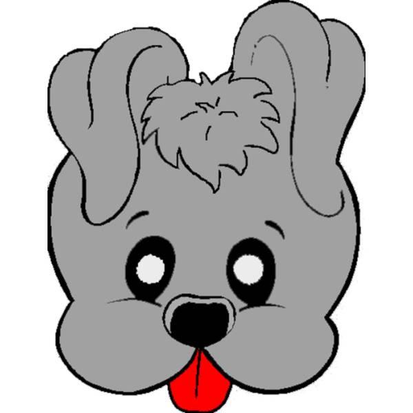Disegno di Maschera di Cagnolino a colori