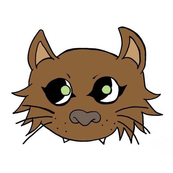Disegno Di Maschera Del Gatto A Colori Per Bambini