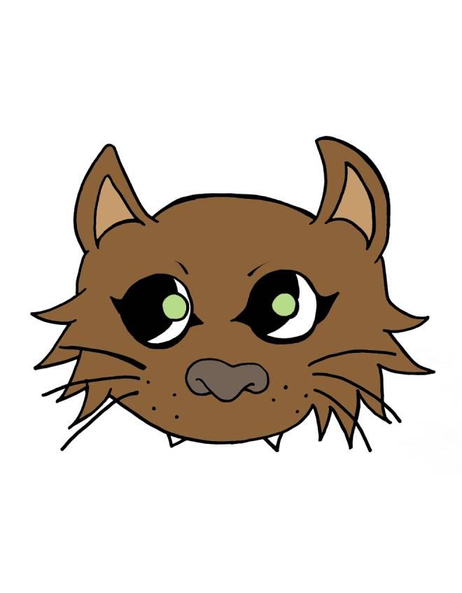 Disegno di maschera del gatto a colori per bambini for Disegno del piano online