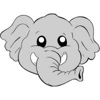Disegno di Maschera di Elefantino a colori