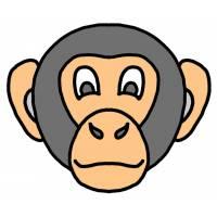 disegno di Maschera di Scimmietta a colori