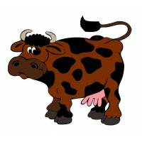 disegno di Mucca con le Macchie a colori