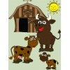 Disegno di La Fattoria con le Mucche a colori