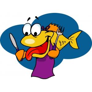 Disegno di pesce affamato a colori per bambini gratis for Disegno pesce palla