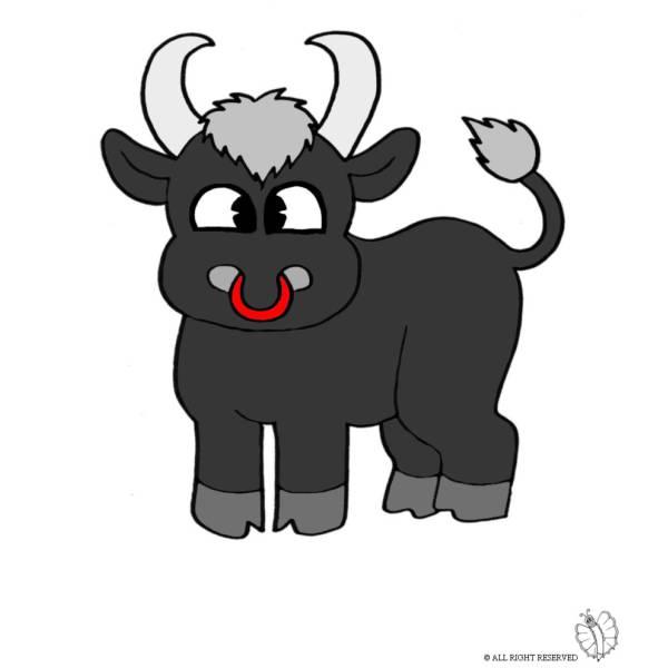 Disegno di Piccolo Toro a colori