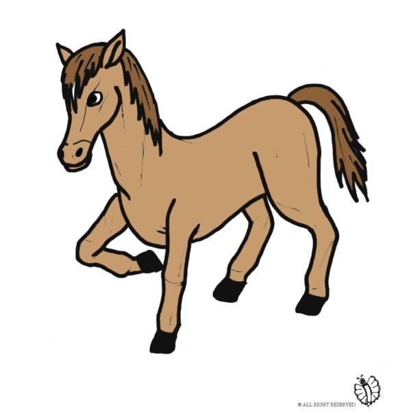 Disegno di pony a colori per bambini for Disegno cavallo per bambini