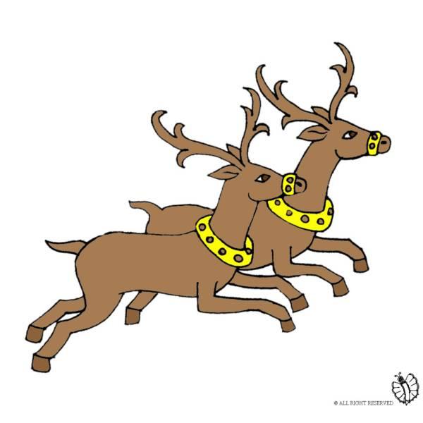 Immagini Di Renne Di Babbo Natale.Disegno Di Renne A Colori Per Bambini