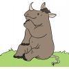 Disegno di Rinoceronte Seduto a colori