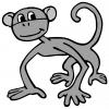Disegno di Scimmietta a colori