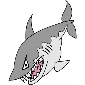 Disegno di lo squalo a colori per bambini gratis for Squalo da colorare per bambini