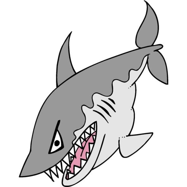 Disegno di lo squalo a colori per bambini for Immagini squali da stampare