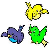 Disegno di Uccellini a colori