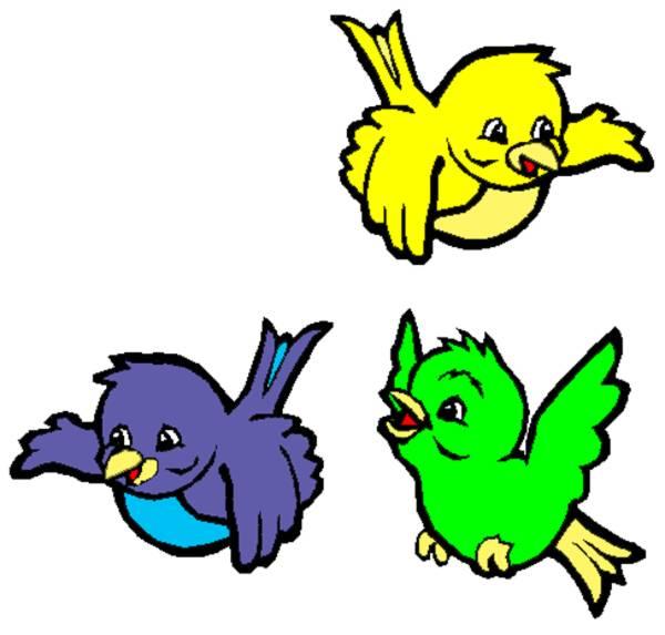Disegno Di Uccellini A Colori Per Bambini