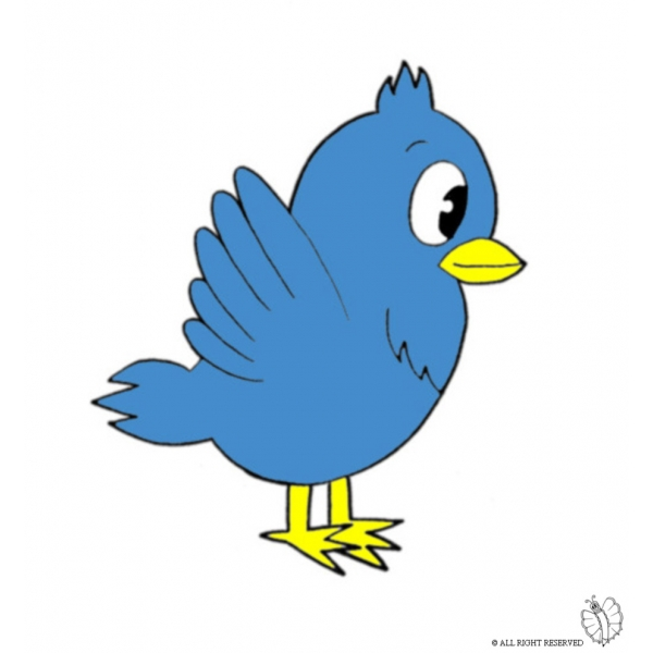 Disegno di uccello a colori per bambini