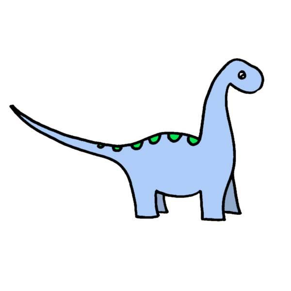 Disegno Dinosauri Per Bambini.Disegno Di Dinosauro Apatosaurus A Colori Per Bambini