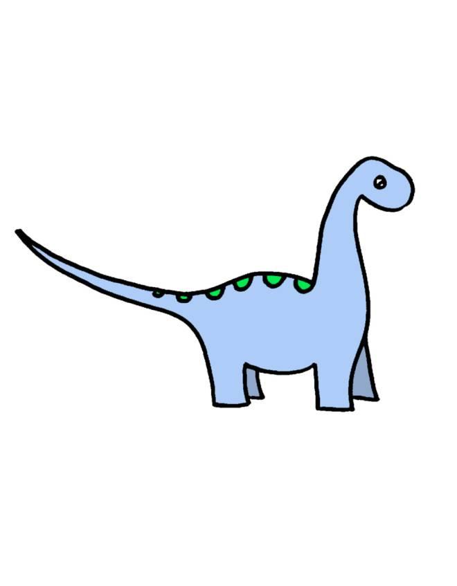 disegno di Dinosauro Apatosaurus a colori