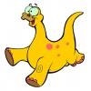 Disegno di Dinosauro Brontosauro a colori