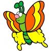 Disegno di Farfalla a colori