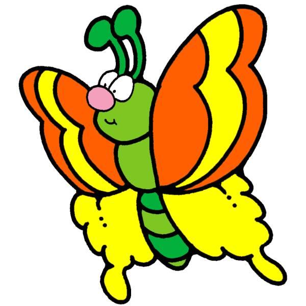 Disegno Di Farfalla A Colori Per Bambini Disegnidacolorareonline Com