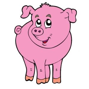 Disegno di il maialino della fattoria a colori per bambini for Stampe di fattoria gratis