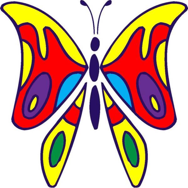 Disegno Di La Farfalla A Colori Per Bambini