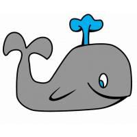 disegno di La Piccola Balena a colori