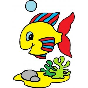 Disegno di pesciolino a colori per bambini gratis for Disegni da colorare pesciolini