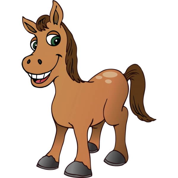 Disegno di piccolo cavallo a colori per bambini