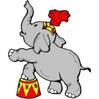 Disegno di Elefante al Circo a colori