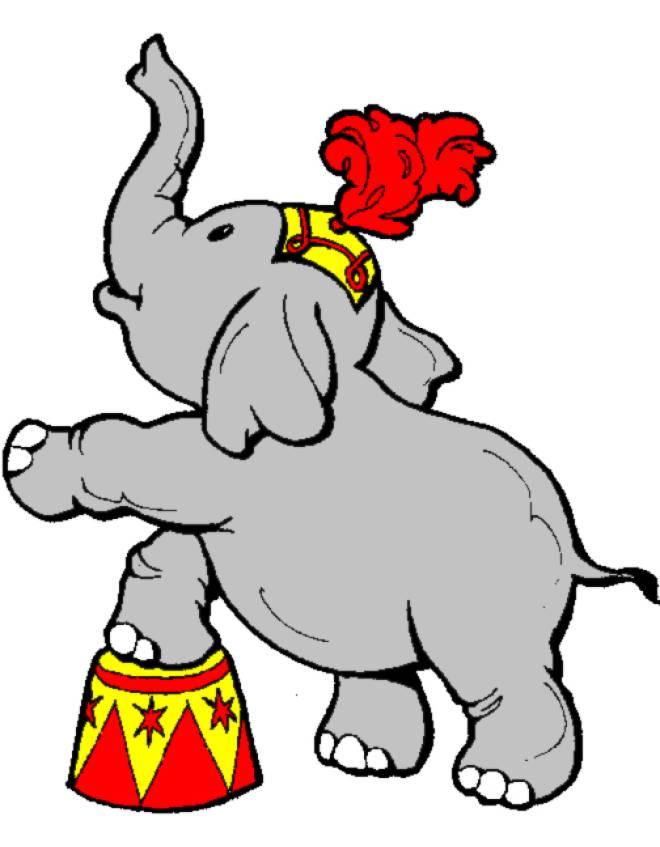 Disegno Di Elefante Al Circo A Colori Per Bambini