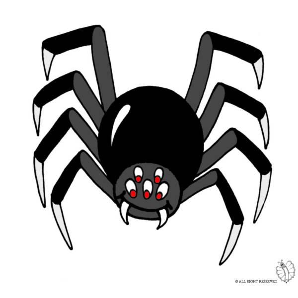 Disegno di ragno per scherzo carnevale retro a colori - Immagini del ragno da stampare ...