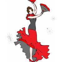 Disegno di Ballerina di Flamenco a colori