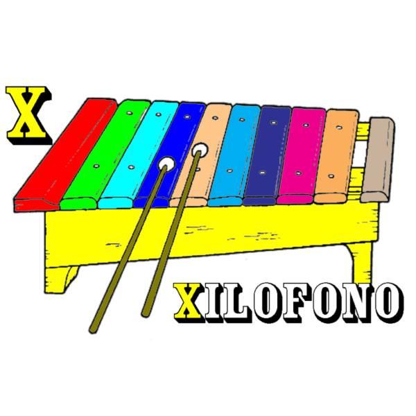 Disegno di Scheda Lettera X a colori