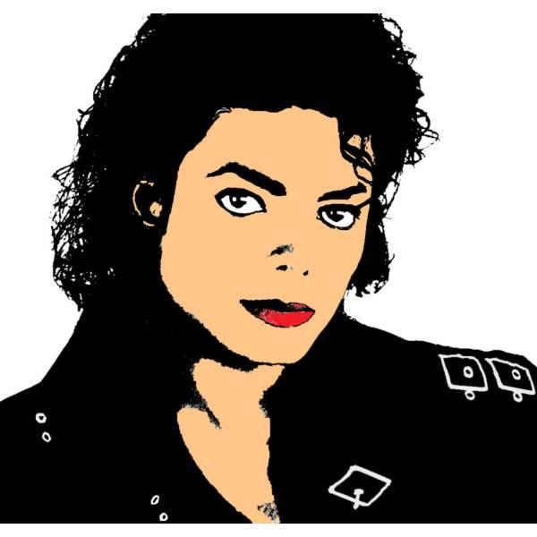 Disegno di Michael Jackson a colori