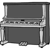 Disegno di Pianoforte a colori