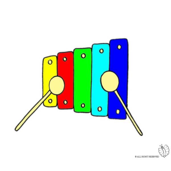Disegno di Xilofono a colori