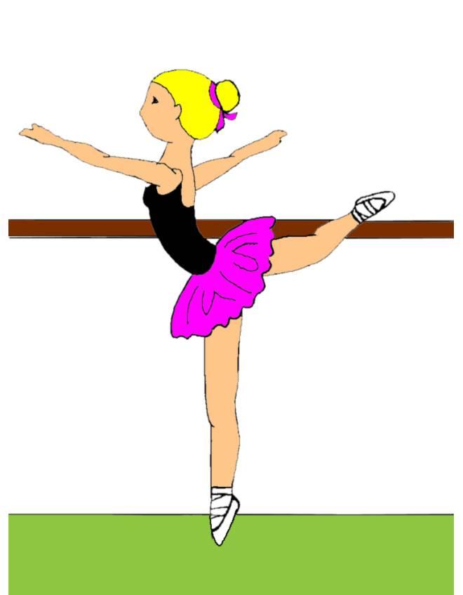 disegno di Lezione di Danza Classica a colori
