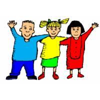 Disegno di Bambini Abbracciati a colori