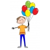 Disegno di Il Ragazzo coi Palloncini a colori