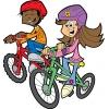 Disegno di Bambini in Bicicletta a colori