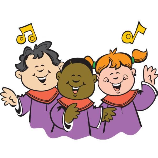 Disegno di Coro di Bambini a colori