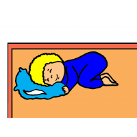 disegno di Bambino che Dorme a colori
