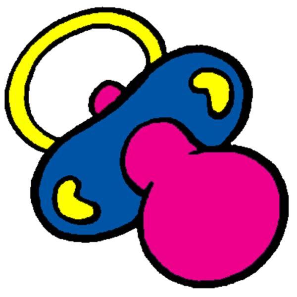 Disegno di ciucciotto a colori per bambini for Comodini per bambini online