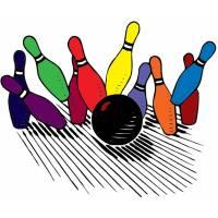 Disegno di Bowling Strike a colori