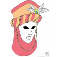 disegno di Maschera Carnevale di Venezia a colori